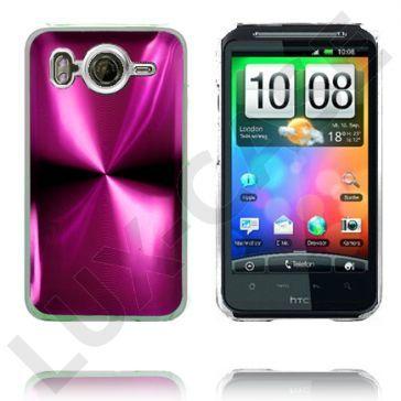 Aluminium Blade - Gjennomsiktig Kant (Rosa) HTC Desire HD Deksel