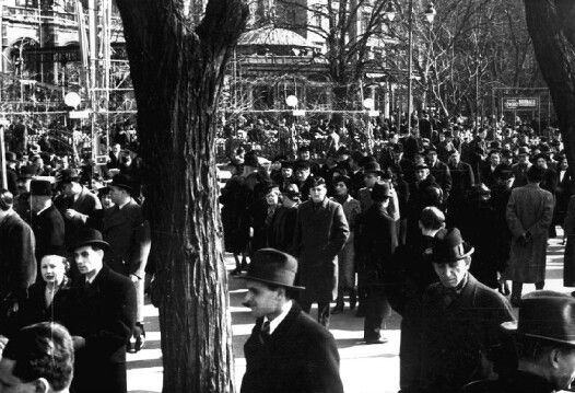 korzó, budapest, 1930
