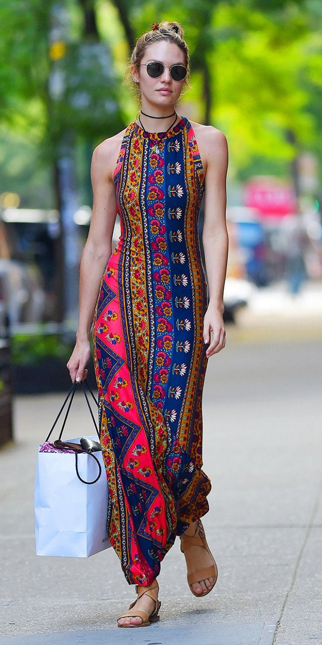 Candice Swanepoel Makes Us Want To Dress Like A Hippie via @WhoWhatWear