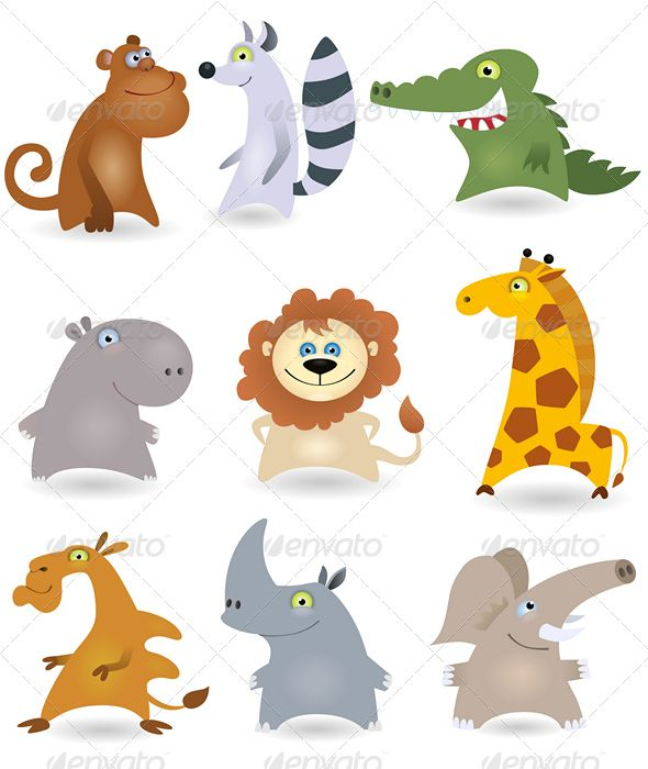 Vector animals set #3 — Vector EPS #animal #critter • Available here → https://graphicriver.net/item/vector-animals-set-3/644121?ref=pxcr