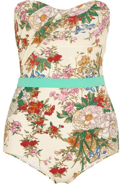 ZIMMERMANN: 'Stardust Floral-Print Swimsuit'. If you want to flaunt it on the beach or by the pool this is the swimsuit brand for you. The floral print is pretty but bold, and the cut is very flattering. RRP £230