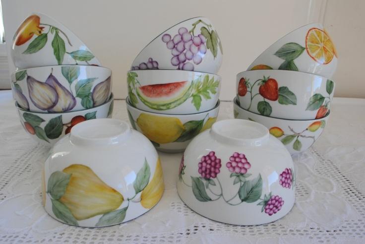 bowls pintados a mano