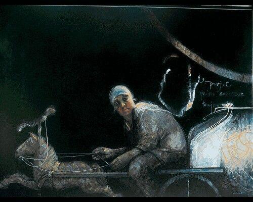 Hobby Horse Ridger (self portrait) 2005 by Margaret Woodward (Australian)