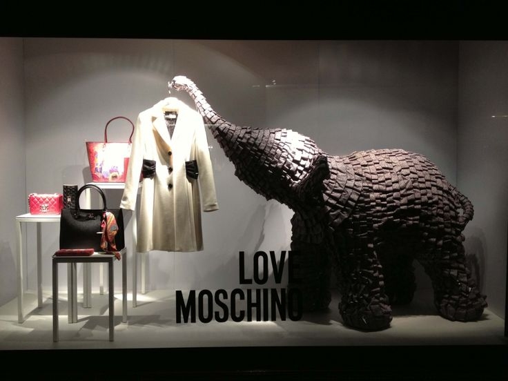 """""""LOVE MOSCHINO"""" at Harrods,""""A Mammoth Undertaking"""", pinned by Ton van der Veer"""