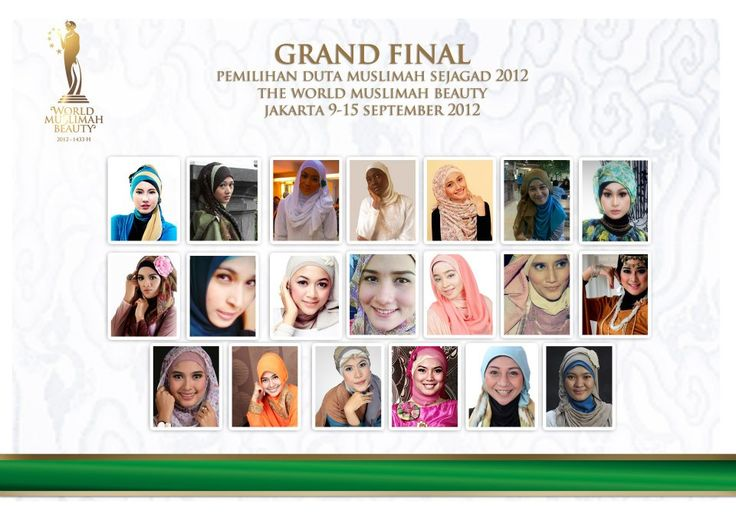 Miss Muslimah World BEAUTY 2012 Contestent