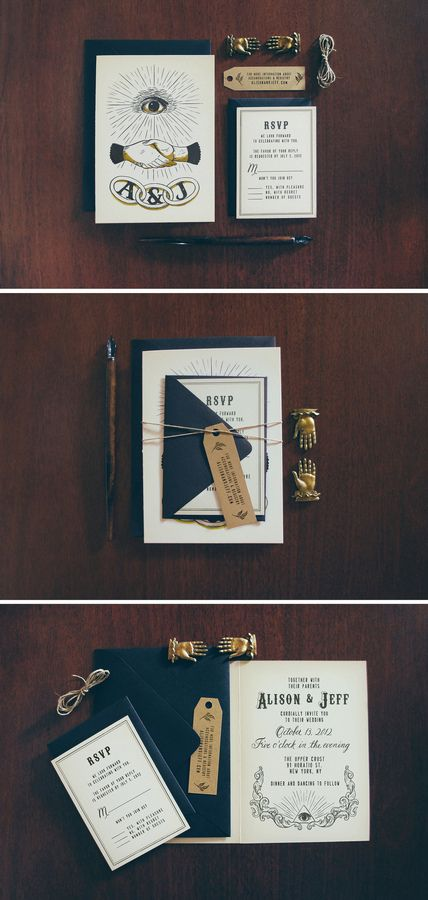 Alison and Jeff share this unique vision of a Secret Society, Odd Fellows inspired wedding concept