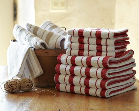 william sonoma kitchen towels--the absolute BEST FOR DRYING.