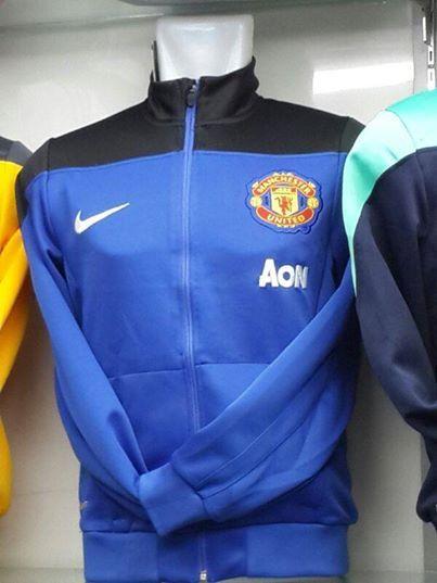 Jual Jaket Manchester United Warna Biru 2014 Grade Original