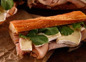 Ham and Camembert Baguette Sandwich Recipe