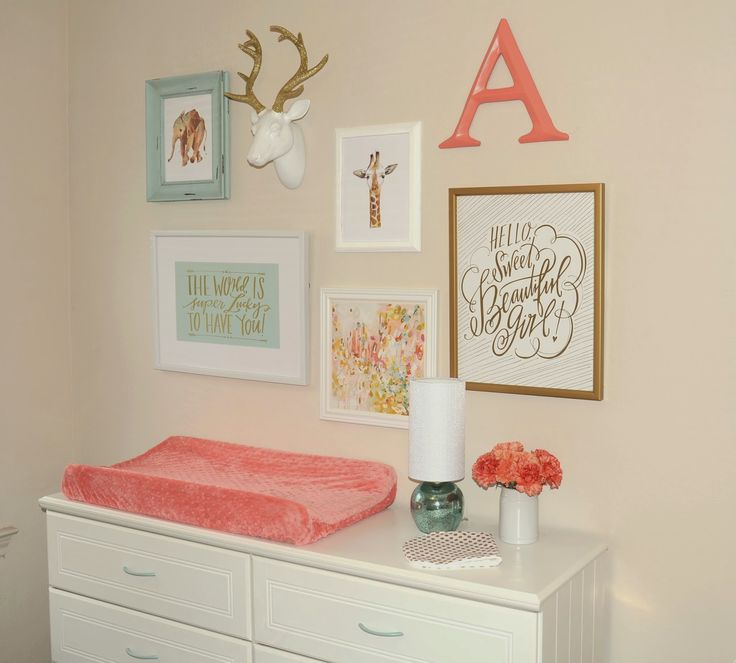 Annelise's Mint, Coral & Gold Nursery …