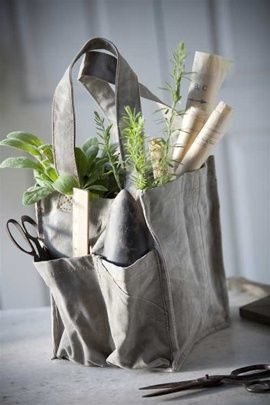 Recycled Canvas Tool Tote by Vagabond Vintage