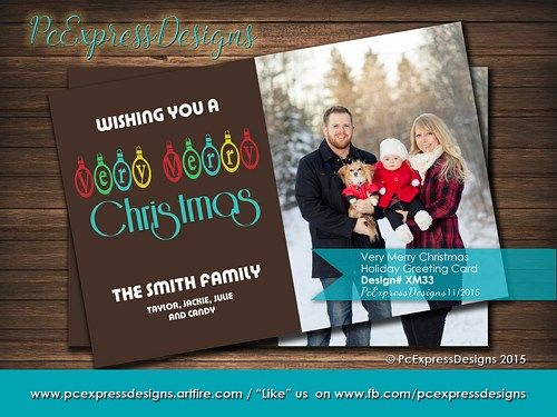 21 best christmas greeting cardsinvitations images on pinterest the very christmas greeting card is customized to either 4x6 or 5x7 high resolution digital file m4hsunfo