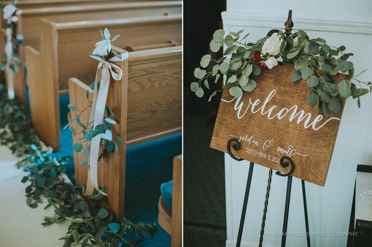 Silver Dollar Eucalyptus Ceremony Decoration Ideas Pew Decorations