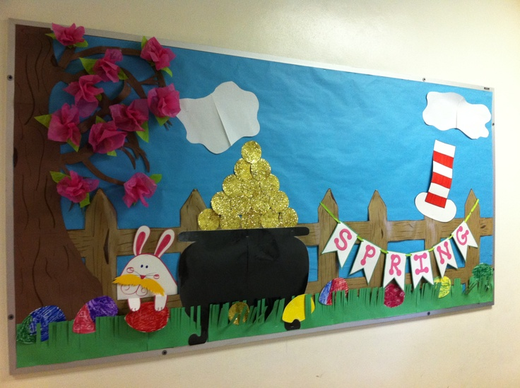 Classroom Decorations For April ~ March bulletin board lauren davison rose and