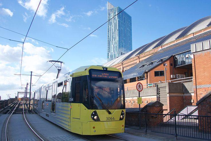 Lower Mosley Street. Manchester Metrolink.