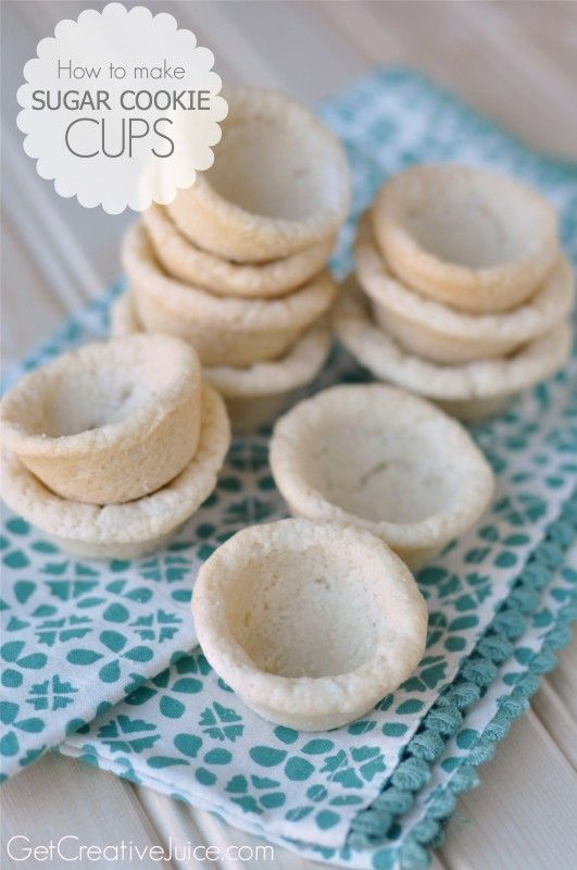 How to make Sugar Cookie Cups - amazing filled with fruit, lemon meringue, or chocolate pudding