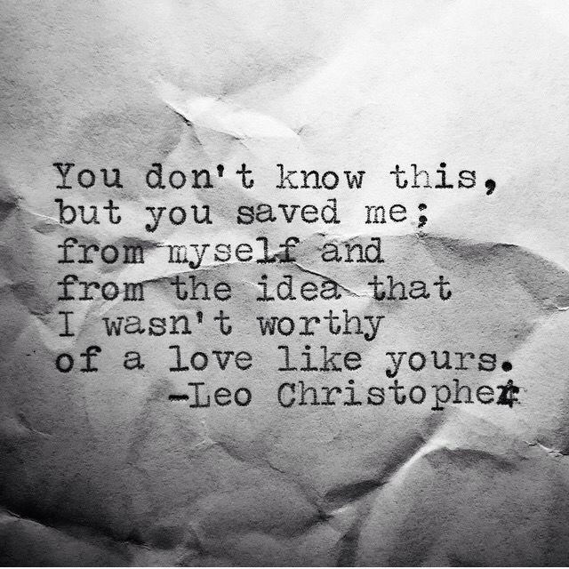 Je pense chaque mot de ce message, tu m'as sauvée, de moi-même et de cette idée que je ne valais pas un amour comme celui que tu me donnes. J'ai envie de te remercier pour ça (même si tu n'aimes pas ça). Tu m'as sauvée, vraiment. Rien de ce que je ferai pour Toi ne vaudra ça, mais je vais essayer de m'en approcher. I love you, so much ! XO