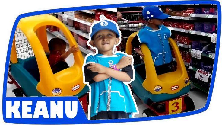 Shopping Jajanan Snack Choki Choki Naik Trolley Car bersama Boboiboy Air...
