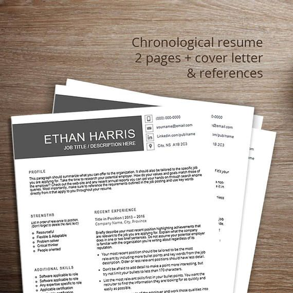 Professional resume template / cv template Chronological