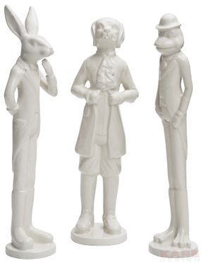 Deco Figurine Animal Gentlemen Assorted