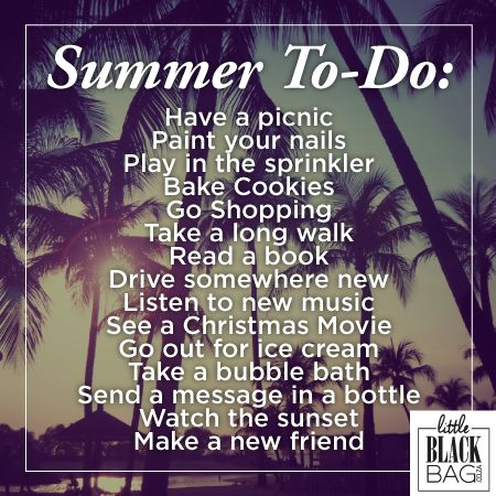 How is your summer bucket list going? Have some fun this summer! #summerbucketlist #lbbcoza