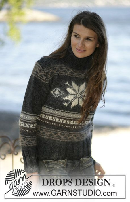 DROPS 96-6 - DROPS Jumper with pattern in Alaska and Vienna - Free pattern by DROPS Design
