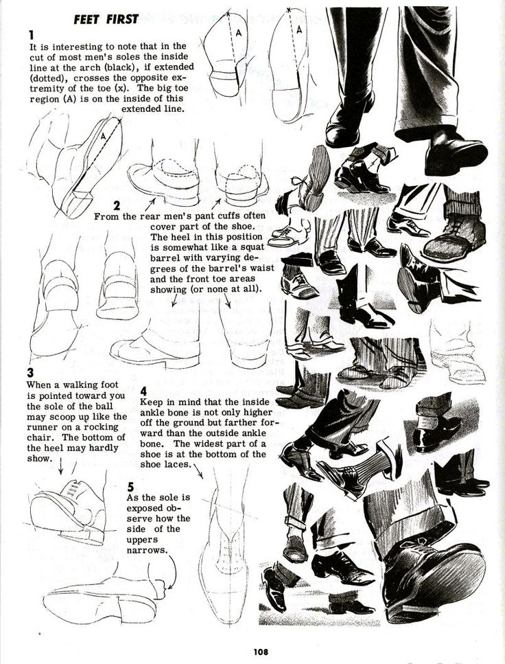 Academy of Art Character and Creature Design Notes: Foot (and Shoe) Reference Part 2