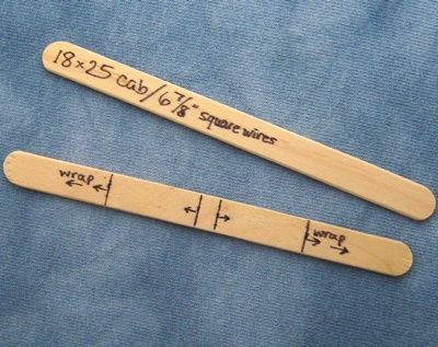 Make a Measuring Template for Wire Jewelry Projects (by Rena Klingenberg)  --  Popsicle Sticks Marked for Making Border-Wrap Wire Pendants