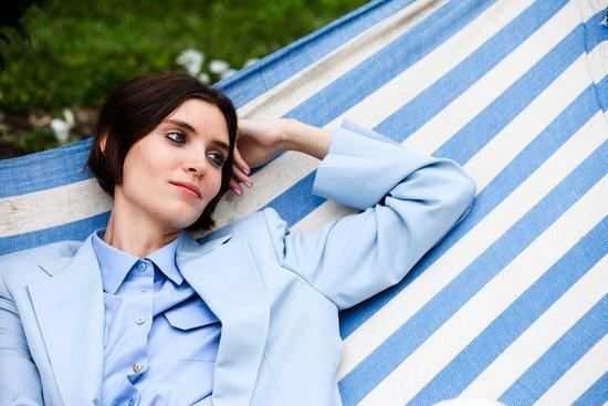 Sweet stripes, blue skies at Stella McCartney 2013: Mccartney Resorts, Stella Mccartney, Runway Fashion, Fashion Week, Blue Blazers, Resorts 2013, Blue Stripes, Stellamccartney, Gardens Parties
