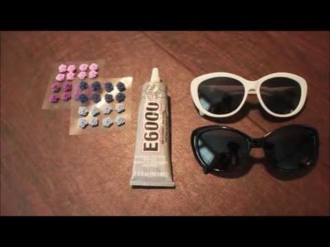How to Make Flower Sunglasses - DIY EDC Outfit
