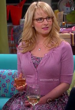 Bernadette's purple floral dress and cardigan on The Big Bang Theory.  Outfit Details: http://wornontv.net/12846/