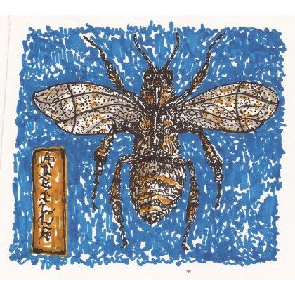 L'Abeille #bee #insect #inkonpaper