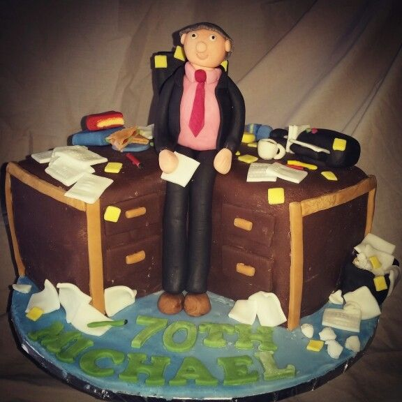 70th Birthday Cake for a messy office worker :-)