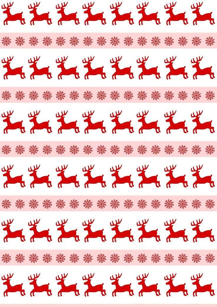 Free digital reindeer scrapbooking paper - ausdruckbares Weihnachtspapier - freebie | MeinLilaPark – DIY printables and downloads