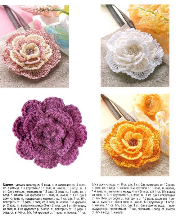More crochet flowers