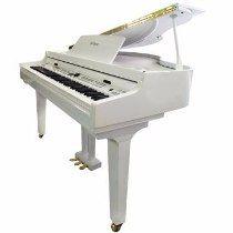 Piano De Cauda Tokai Tp88c Branco C/banqueta Na Sommexe