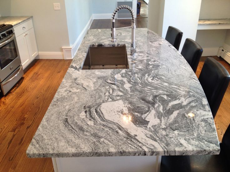 White Silver Granite Countertop : ... granite gray silver waves granite google search main bathroom granite