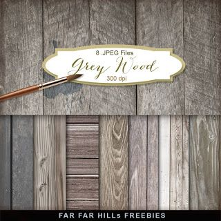 New Freebies Kit of Backgrounds - Grey Wood:Far Far Hill - Free database of digital illustrations and papers