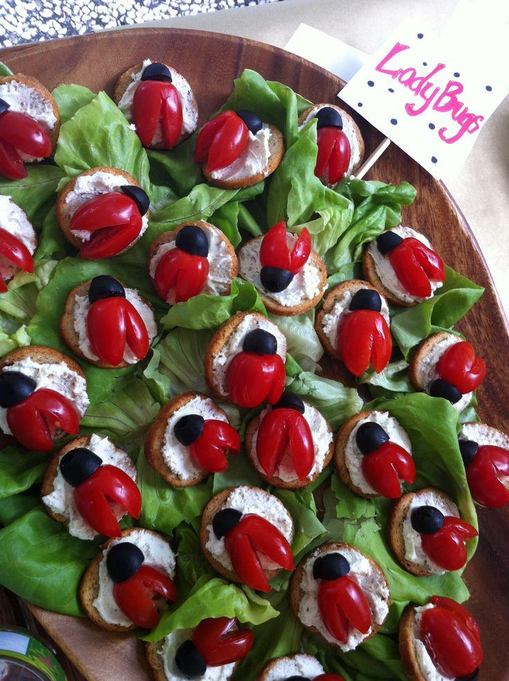 Lady bug snacks
