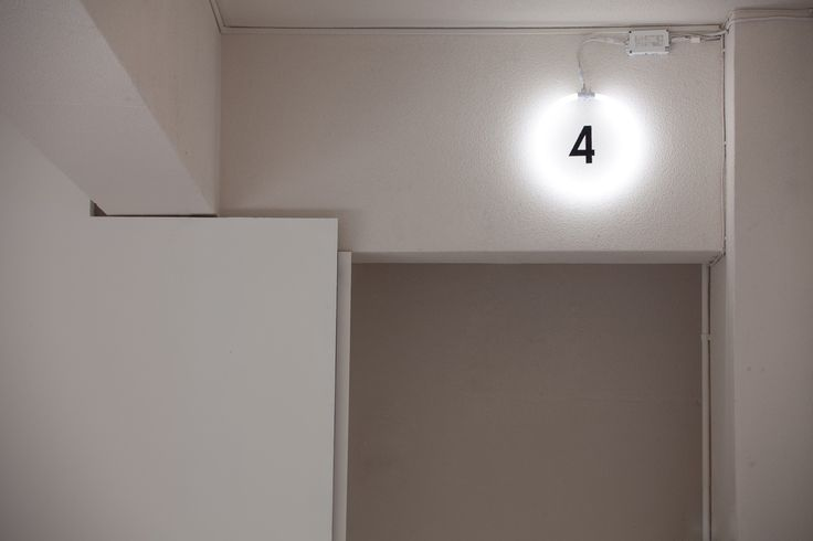 Fluorescent tube lights signage.