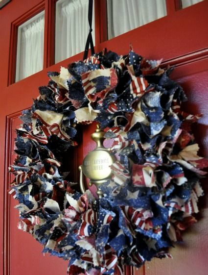 Easy DIY Patriotic Wreath Tutorial - Simple Sojourns
