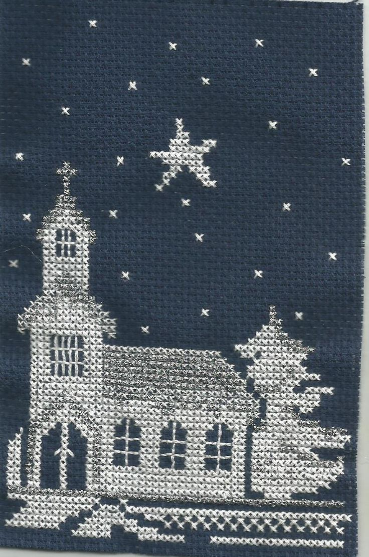 Church cross stitch.