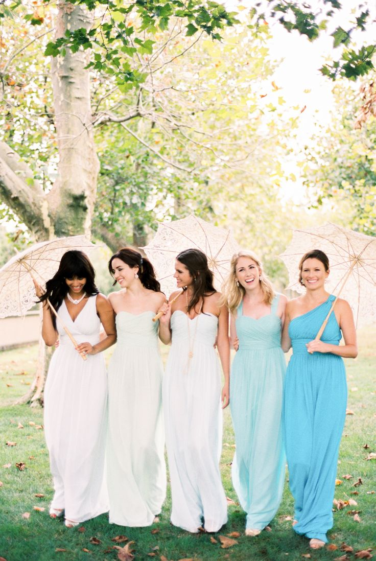 67 best bridesmaids dresses images on pinterest bridesmaids the spring 2014 campaign for donna morgan bridesmaids dresses features full length gowns in beautiful ombre shades of mint as photographed by trent bailey ombrellifo Choice Image