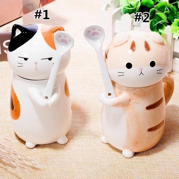 "Kawaii cat ceramic tea/coffee mug/cup SE9952        Coupon code ""cutekawaii"" for 10% off"
