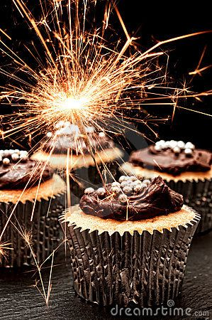 New Year's Cupcakes!