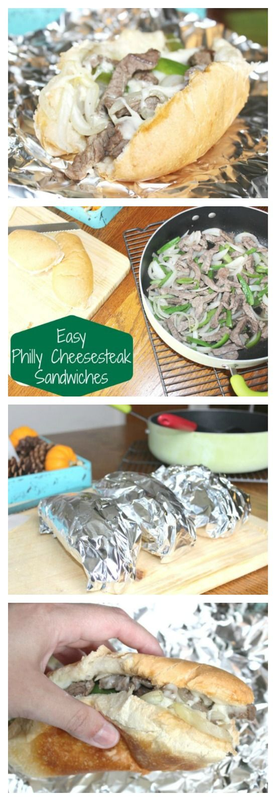 Easy Philly Cheesesteak Sandwiches Recipe to Whip Up for Dinner on Busy Nights! We also have a suggestion to make this a super convenient freezer cooking option!
