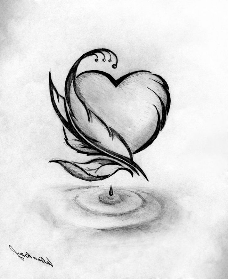 pencil easy drawings cool drawing sketch abstract unique romantic