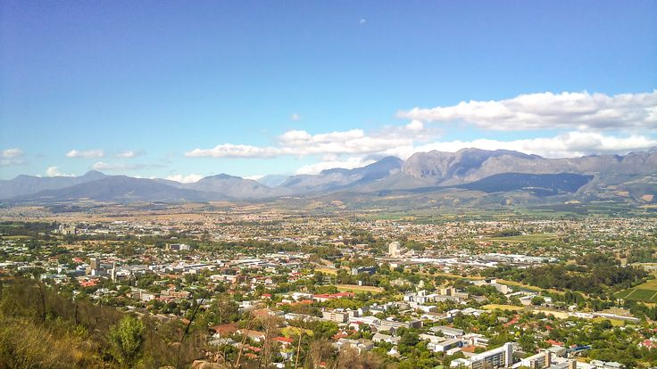 The town of  Paarl, Winelands (Paarl is derived from the Dutch word 'parel' meaning pearl in Dutch) found in South Africa stretches from the south to the north by means of the 12 km long Main Road which, coincidentally, is one of the town's most prominent features.