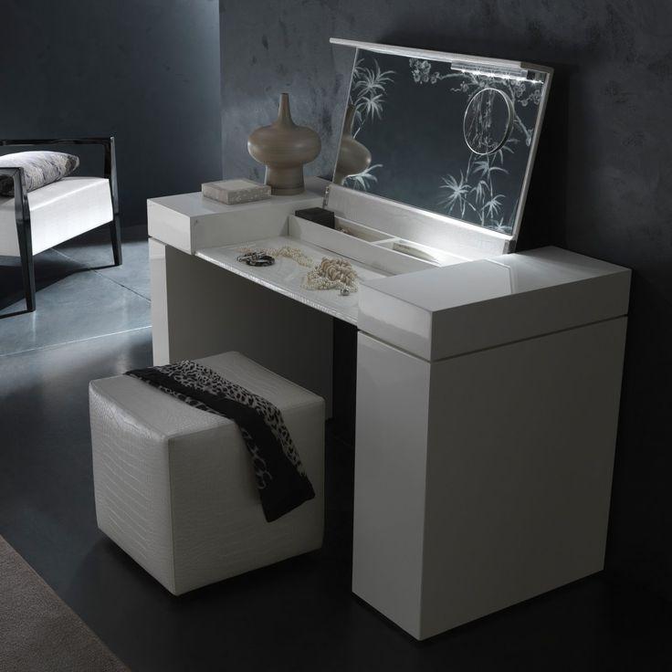 Vanity Set With Lights For Bedroom: Nightfly White Bedroom Vanity Set - Bedroom Vanities at Hayneedle,Lighting