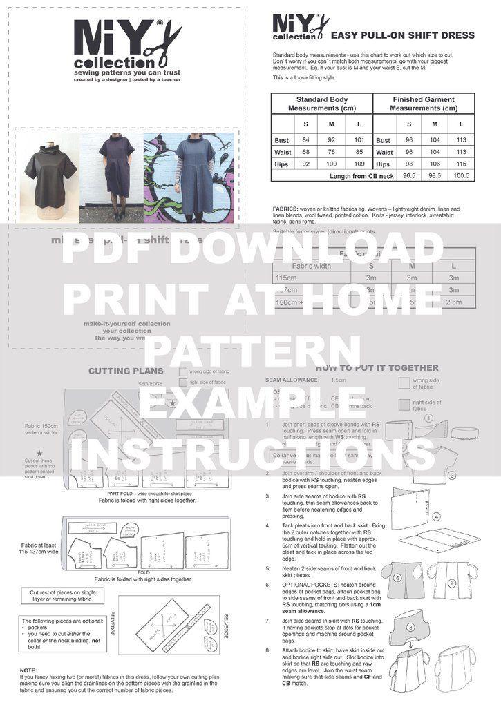 The Fulwood - Pull-on Shift Dress PDF Pattern
